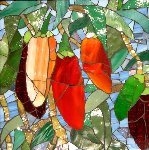 Stained Glass Mosaic Salsa Peppers