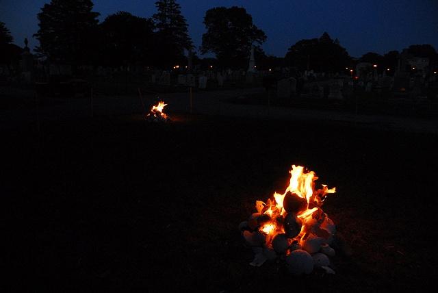 Hannah Verlin Nest Eggs fire installation