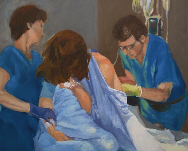 The Epidural, a painting by Jennifer Bishop
