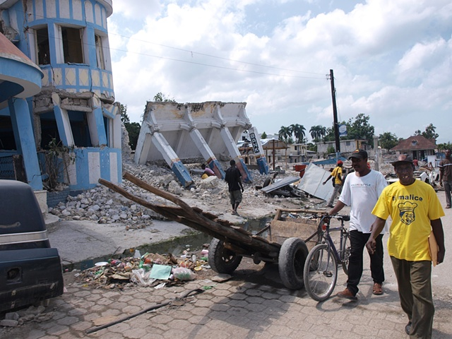 Leogane after the earthquake