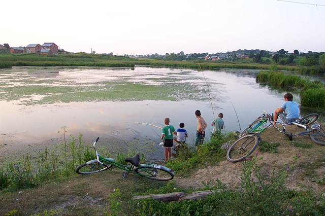 Fishing at the local pond