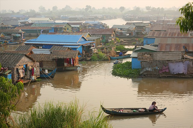 Morning in the floating village