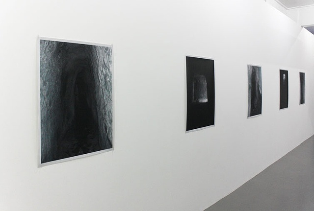 """The intolerable other that I crave to destroy so as to better possess it alive"" (installation view of 'Cryptal Drain' and 'Fissure' series)"