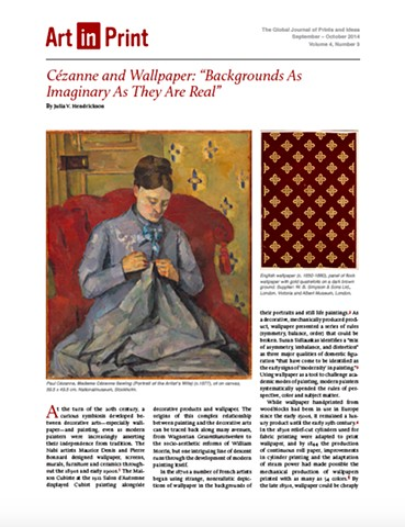 Cézanne and Wallpaper: 'Backgrounds As Imaginary As They Are Real'