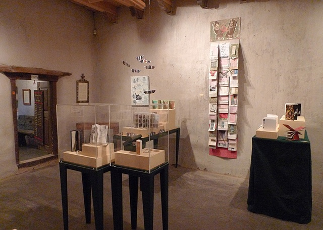 Uncovered:   Handmade Books by Taos Women Martinez Hacienda installation
