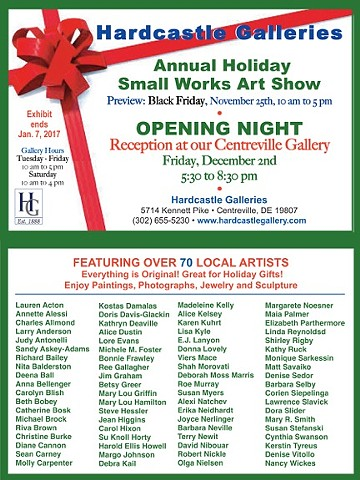 "Hardcastle Galleries ""Annual Holiday Small Works Art Show"""