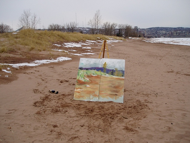 """Beach Dunes"" in progress, early Spring 2008"