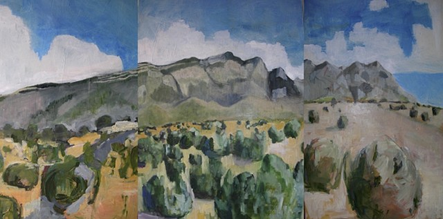 Sandia Mountain Triptych (Complete)