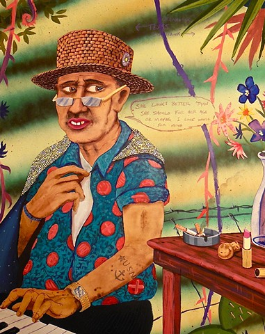 This painting happens when you listen to Margaritaville on repeat for three weeks.
