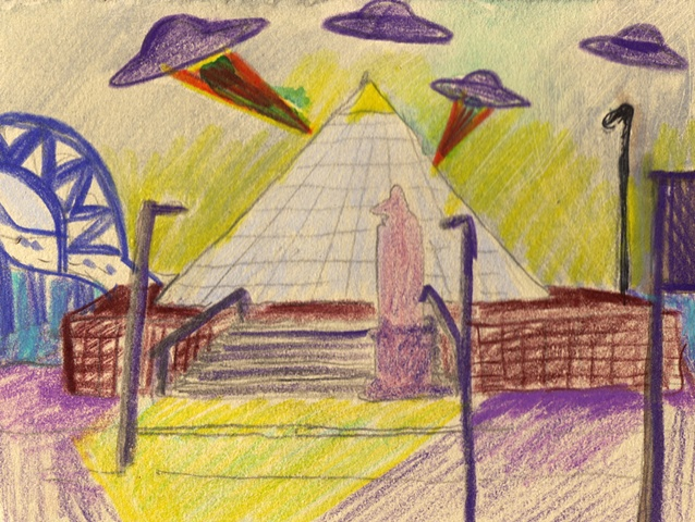Memphis Pyramid. By Georgia Mcgovern