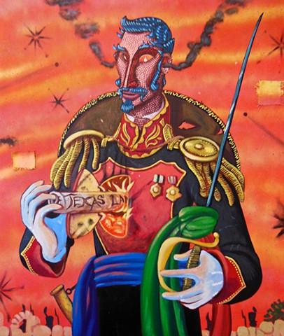 General Santa Anna! Remember the Alamo!