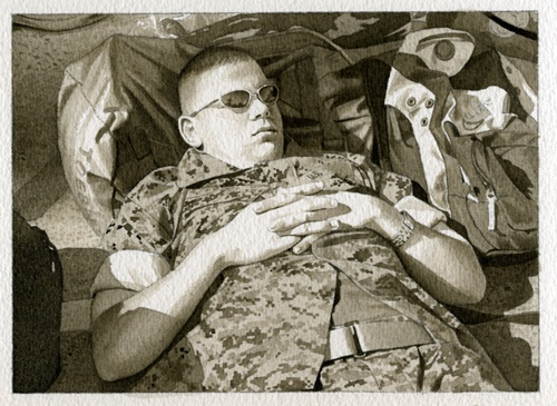 Sleeping Marine 3