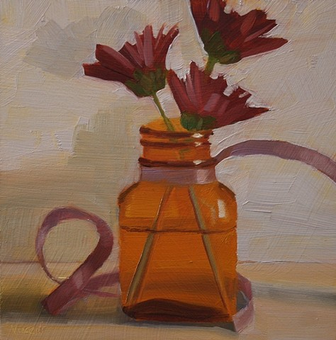 flowers vase oil painting still life patti vincent