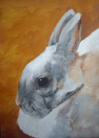 commission, oil painting, pet bunny, gift