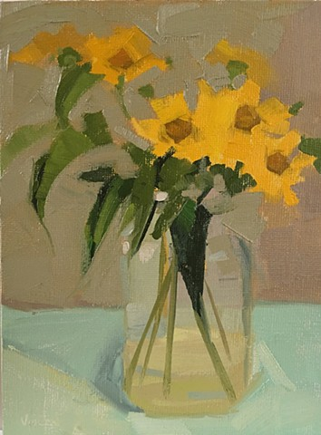 Flowers, oil painting, glass, art, Patti vincent, floral art
