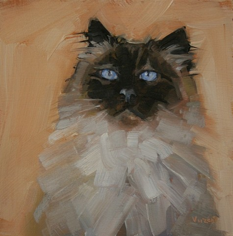 pet portrait commission oil painting patti vincent