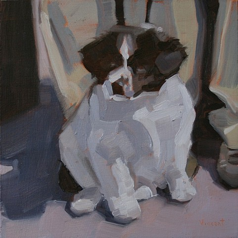dog painting oil painting pet portrait commission patti vincent