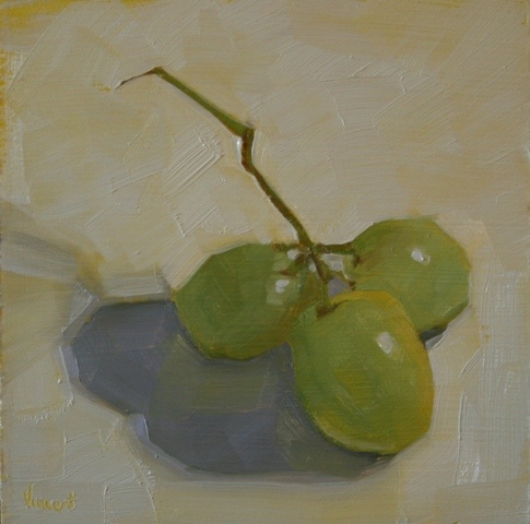 grapes, still life, oil painting, daily painting, small