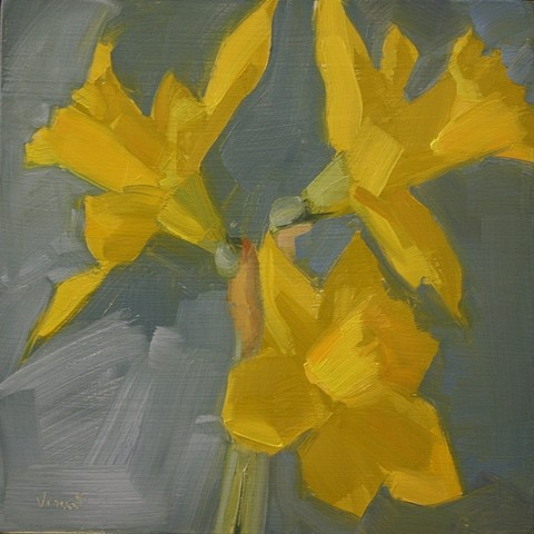 daffodils flowers oil painting still life painting patti vincent