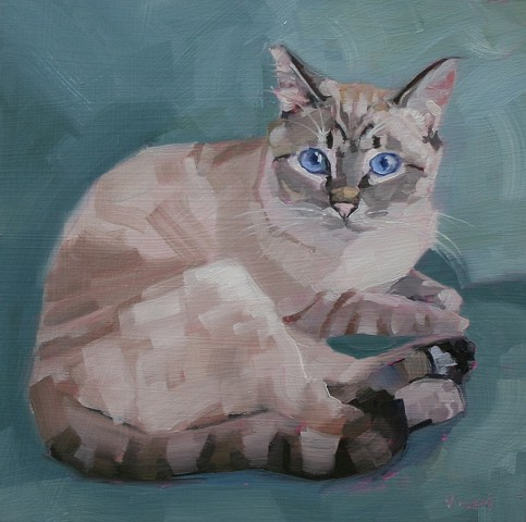 cat, animal, cat painting, oil painting, cat art