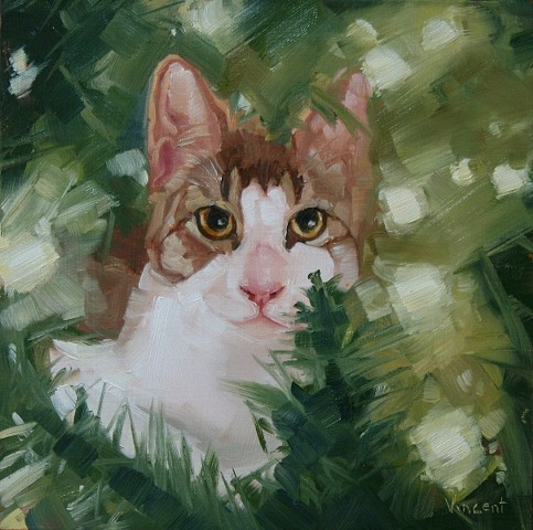 cat, animal, cat painting, cat art, oil painting