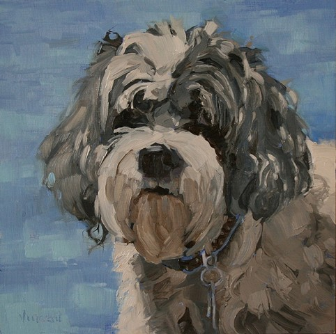 pet portrait commission, dog, dog art, animal art, oil painting
