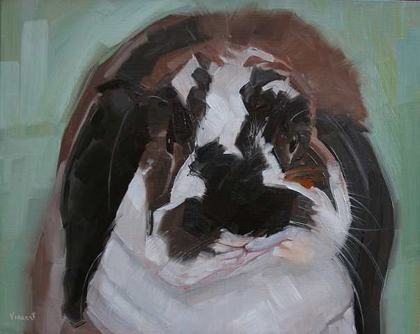 bunny art, bunny rabbit, oil painting, pet painting, pet portrait