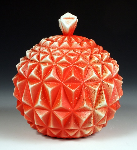Geometric Jar Red
