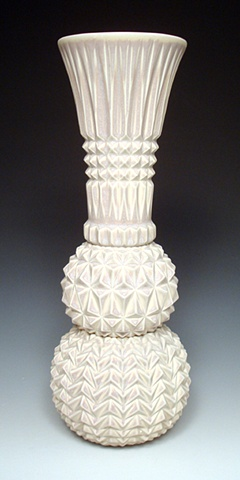 Cast and Assembled Porcelain Vase
