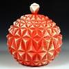 Geometric Jar Red