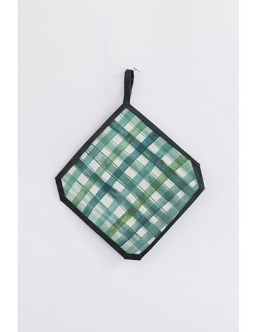 Grid Potholder, Green