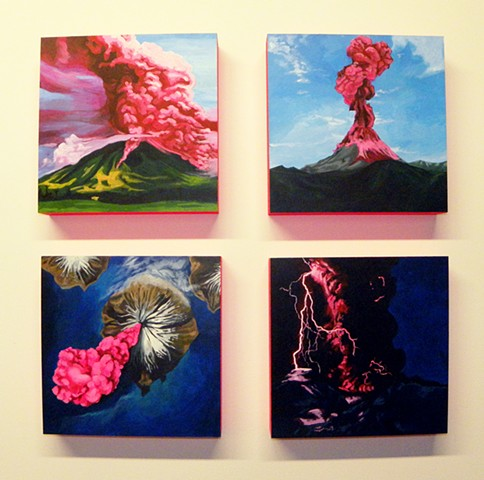Pink Volcanoes (Installation View)