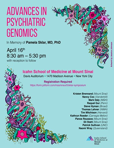 Illustration for the 2018 Pamela Sklar Annual Psychiatric Genomics Symposium