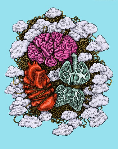 Anxiety Disorders, Illustration for the Neurobiology of Mental Illness