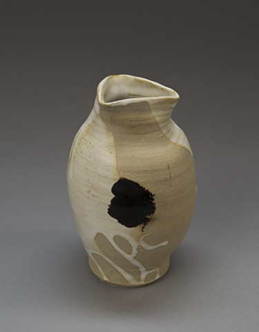 Vase with Triangle Lip and Three Black Dots