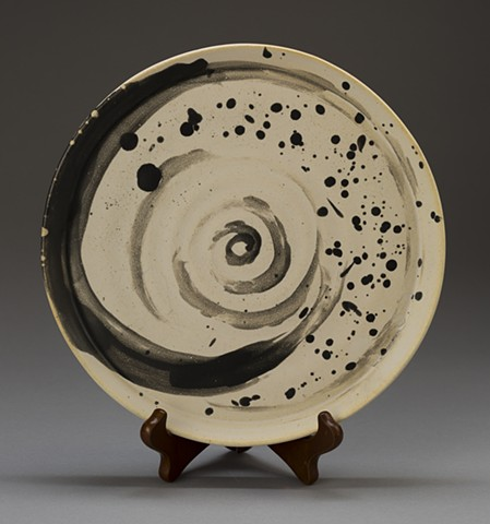 Black Swirl and Dalmatian Plate