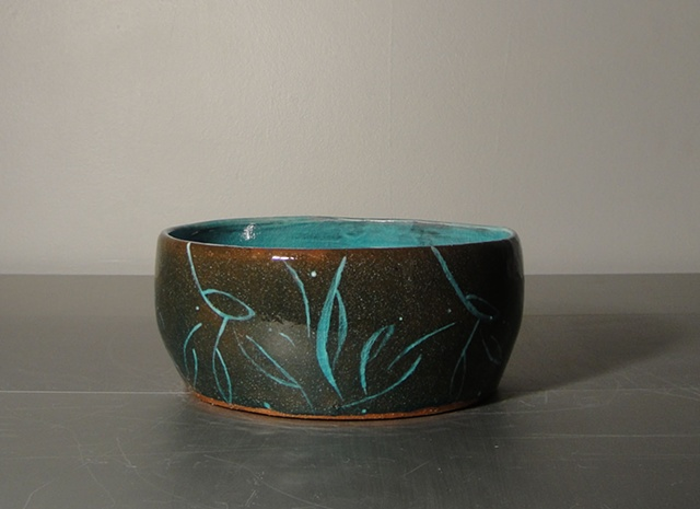 Blue Floral on Earthenware