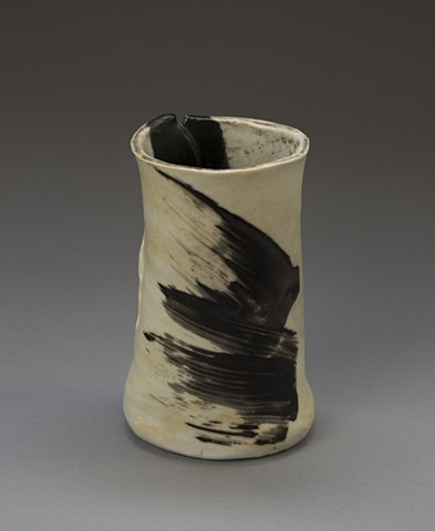 Vase with painterly marks - Side I