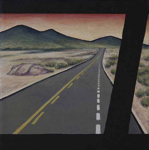 View from a Mexican bus of desert.