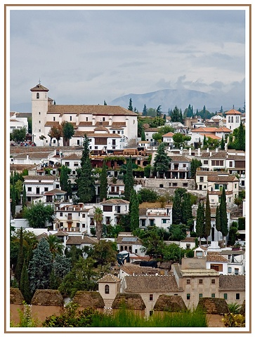 View from the Alhambra Granada Spain