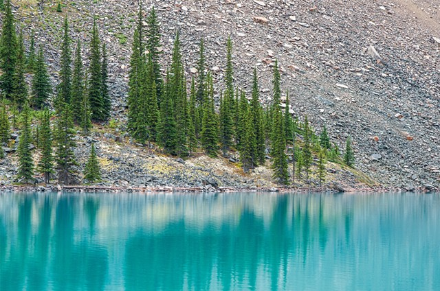 Moraine Lake in Banff, Glacial Waters and reflections