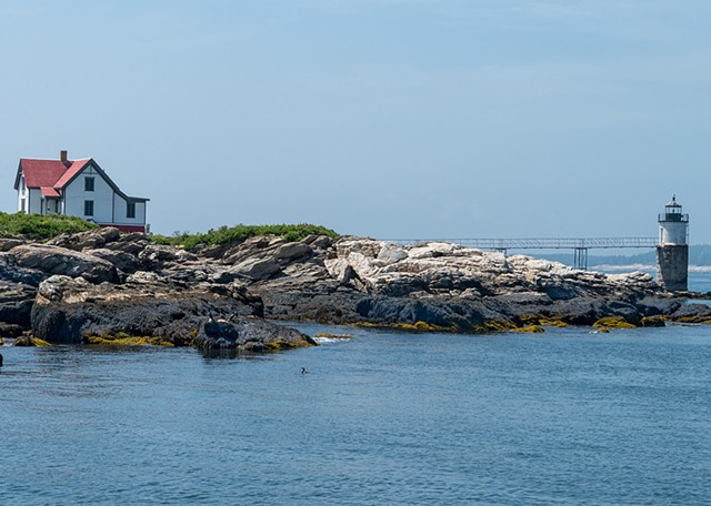 Another view from boatside of a Lighthouse out in Boothbay Harbor