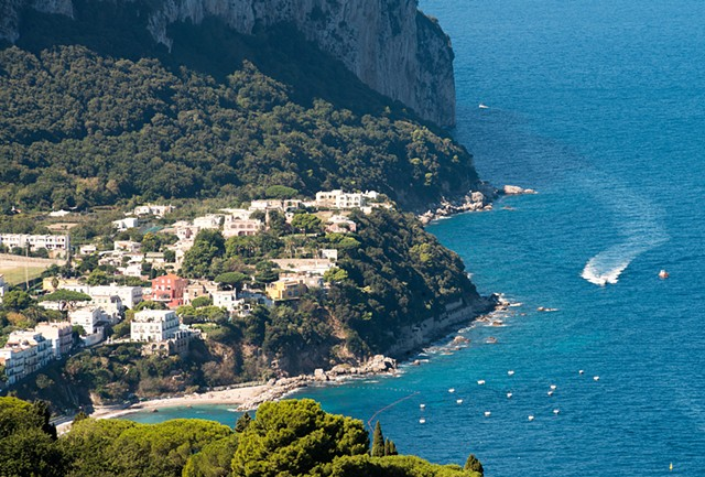 Capri, an island off the coast of Sorrento, Italy