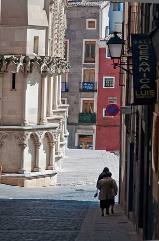 Ladies off to Church - Cuenca  Spain
