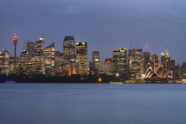 Sunset View of the Sydney Skyline including the Sydney Opera House