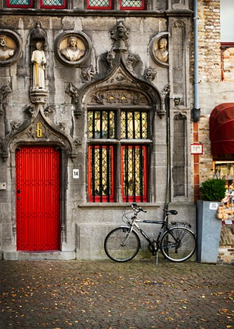 Golden Windows, Red Door and a Bike