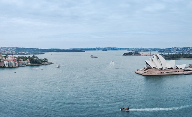 A Bird's Eye View of the Sydney Harbour from the Sydney Harbour Bridge