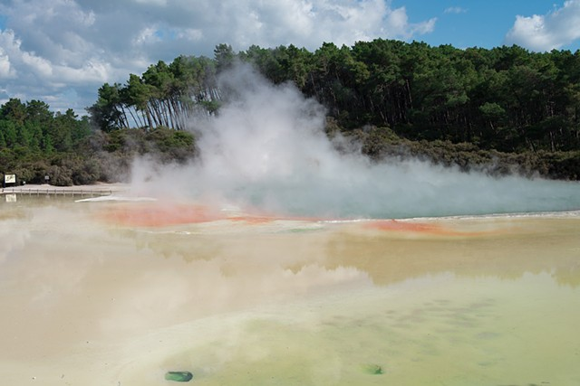 Rotarua in New Zealand, the thermal springs are like another planet.