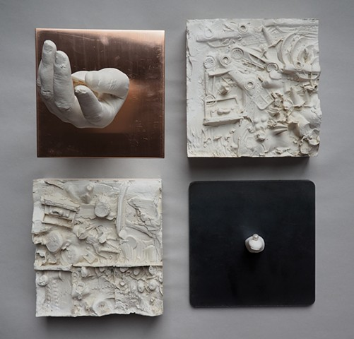 The Things We Hold: Freshwater Mussel pearl freshwater mussel plaster bas relief sculpture eco art enviromental water quality Mississippi watershed
