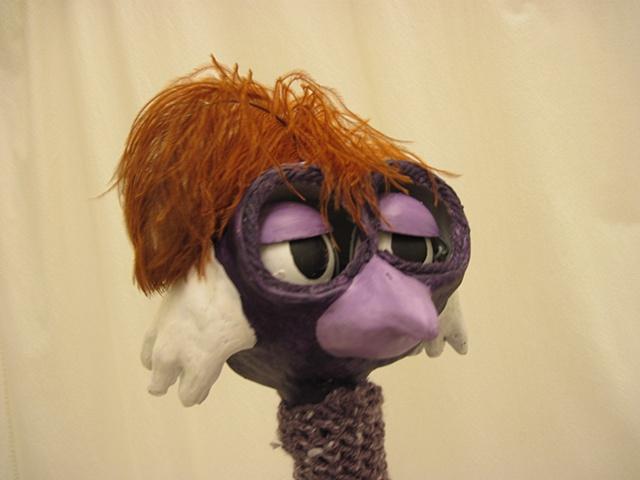 Puppet Head- Eyelids half closed